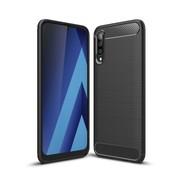 GSMWise Samsung Galaxy A50 Hoesje - Carbon Fiber Design Back Case - Zwart