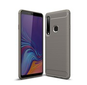 GSMWise Samsung Galaxy A9 (2018) Hoesje - Carbon Fiber Design Back Case - Grijs