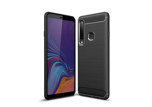 Carbon Fiber Texture Brushed TPU Case for Samsung Galaxy A9 (2018) / A9 Star Pro / A9s - Black
