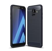 GSMWise Samsung Galaxy A6 (2018) Hoesje - Carbon Fiber Design Back Case - Blauw