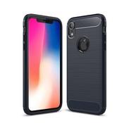 GSMWise Apple iPhone XR Hoesje - Carbon Fiber Design Back Case - Blauw