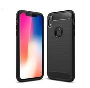 GSMWise Apple iPhone XR Hoesje - Carbon Fiber Design Back Case - Zwart
