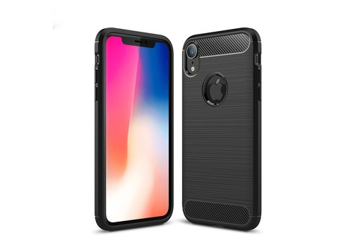Carbon Fibre Brushed TPU Case for iPhone XR 6.1 inch - Black