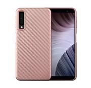 GSMWise Samsung Galaxy A7 (2018) Hoesje - Carbon Fiber Design Back Case - Roze Goud
