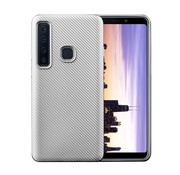 GSMWise Samsung Galaxy A9 (2018) Hoesje - Carbon Fiber Design Back Case - Zilver