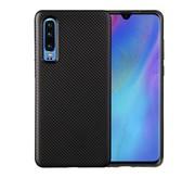 GSMWise Huawei P30 Hoesje - Carbon Fiber Design Back Case - Zwart
