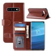 GSMWise Samsung Galaxy S10 Hoesje - PU Lederen Wallet Case - Bruin