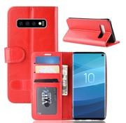 GSMWise Samsung Galaxy S10 Hoesje - PU Lederen Wallet Case - Rood