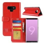 GSMWise Samsung Galaxy Note 9 Hoesje - PU Lederen Wallet Case - Rood