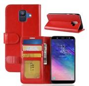 GSMWise Samsung Galaxy A6 (2018) Hoesje - PU Lederen Wallet Case - Rood