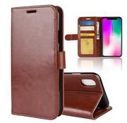GSMWise Apple iPhone XR Hoesje - PU Lederen Wallet Case - Bruin