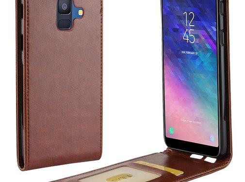 GSMWise Samsung Galaxy A6 (2018) Hoesje - Flip Case - Bruin