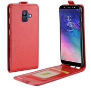 GSMWise Samsung Galaxy A6 (2018) Hoesje - Flip Case - Rood