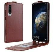 GSMWise Huawei P30 Hoesje - Flip Case - Bruin
