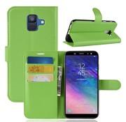 GSMWise Samsung Galaxy A6 (2018) Hoesje - Wallet Case - Groen