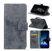 GSMWise Samsung Galaxy A9 (2018) Hoesje - Vintage Wallet Case met Kaarthouder - Grijs