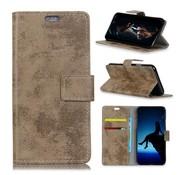 GSMWise Samsung Galaxy A7 (2018) Hoesje - Vintage Wallet Case met Kaarthouder - Khaki