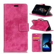 GSMWise Samsung Galaxy A7 (2018) Hoesje - Vintage Wallet Case met Kaarthouder - Roze