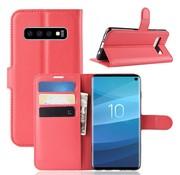 GSMWise Samsung Galaxy S10 Hoesje - Wallet Case - Rood