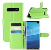 GSMWise Samsung Galaxy S10 Plus Hoesje - Wallet Case - Groen