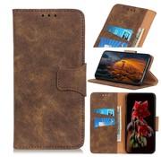 GSMWise Huawei P Smart Plus (2019) Hoesje - Vintage Wallet Case met Kaarthouder - Bruin