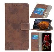 GSMWise Samsung Galaxy A50 Hoesje - Vintage Wallet Case met Kaarthouder - Bruin