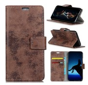 GSMWise Huawei P30 Pro Hoesje - Vintage Wallet Case met Kaarthouder - Bruin