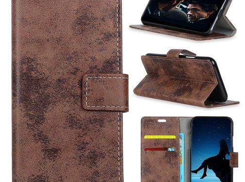 GSMWise Huawei P30 Hoesje - Vintage Wallet Case met Kaarthouder - Bruin