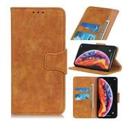 GSMWise Samsung Galaxy A40 Hoesje - Vintage Wallet Case met Kaarthouder - Bruin