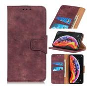 GSMWise Samsung Galaxy A40 Hoesje - Vintage Wallet Case met Kaarthouder - Wijn Rood