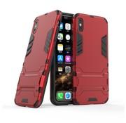 GSMWise Apple iPhone XS Max Hoesje - Hybride Hard Case met standaard - Rood