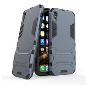 GSMWise Apple iPhone XR Hoesje - Hybride Hard Case met standaard - Blauw