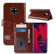 GSMWise Huawei Mate 20 Pro Hoesje - PU Lederen Wallet Case - Bruin