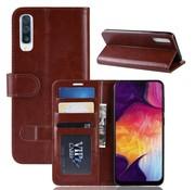 GSMWise Samsung Galaxy A50 Hoesje - PU Lederen Wallet Case - Bruin