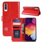 GSMWise Samsung Galaxy A50 Hoesje - PU Lederen Wallet Case - Rood