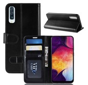 GSMWise Samsung Galaxy A50 Hoesje - PU Lederen Wallet Case - Zwart