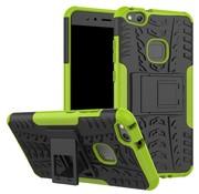 GSMWise Huawei P10 Lite Hoesje - Hybride Back Cover met standaard - Groen