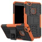 GSMWise Huawei P10 Lite Hoesje - Hybride Back Cover met standaard - Oranje