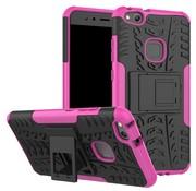 GSMWise Huawei P10 Lite Hoesje - Hybride Back Cover met standaard - Roze