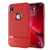 GSMWise Apple iPhone XR Hoesje - Geborsteld Flexibele TPU Back Case - Rood