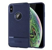 GSMWise Apple iPhone XS Max Hoesje - Geborsteld Flexibele TPU Back Case - Blauw