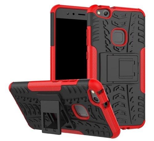 GSMWise Huawei P10 Lite Hoesje - Hybride Back Cover met standaard - Rood