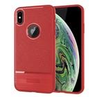 GSMWise Apple iPhone XS Max Hoesje - Geborsteld Flexibele TPU Back Case - Rood