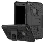 GSMWise Huawei P10 Lite Hoesje - Hybride Back Cover met standaard - Zwart