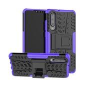 GSMWise Huawei P30 Hoesje - Hybride Back Cover met standaard - Paars