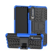 GSMWise Huawei P30 Hoesje - Hybride Back Cover met standaard - Blauw