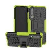 GSMWise Huawei P30 Hoesje - Hybride Back Cover met standaard - Groen