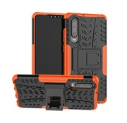 GSMWise Huawei P30 Hoesje - Hybride Back Cover met standaard - Oranje