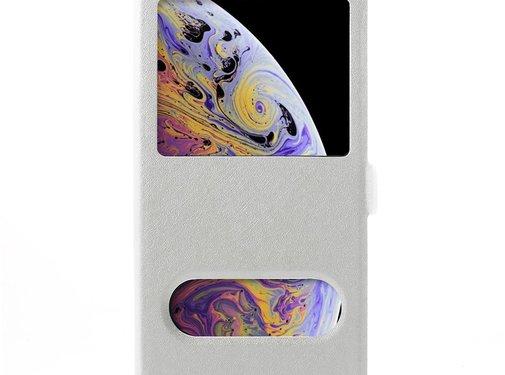 GSMWise Apple iPhone XR Hoesje - Window View Book Case - Wit
