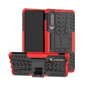 GSMWise Huawei P30 Hoesje - Hybride Back Cover met standaard - Rood